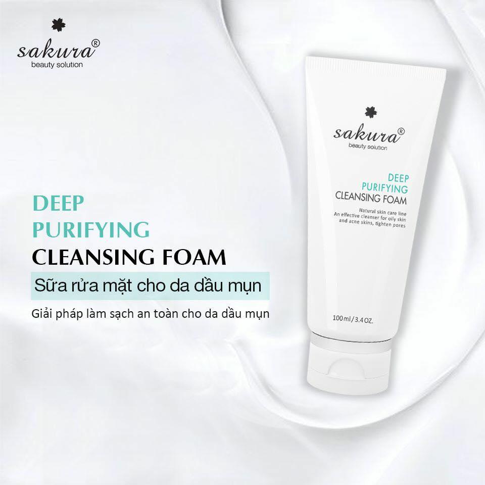 Sakura Deep Purifying Cleansing Foam