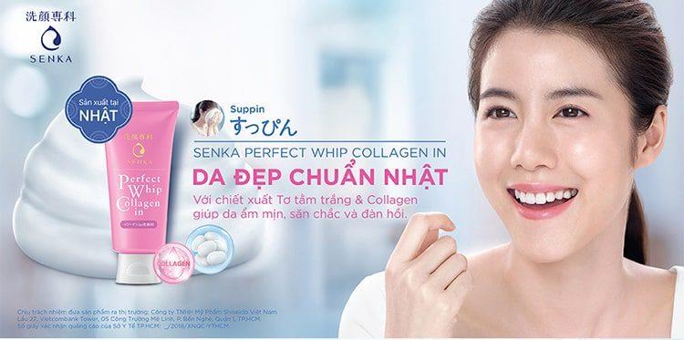 Sữa Rửa Mặt Shiseido Perfect Whip Collagen - Hồng