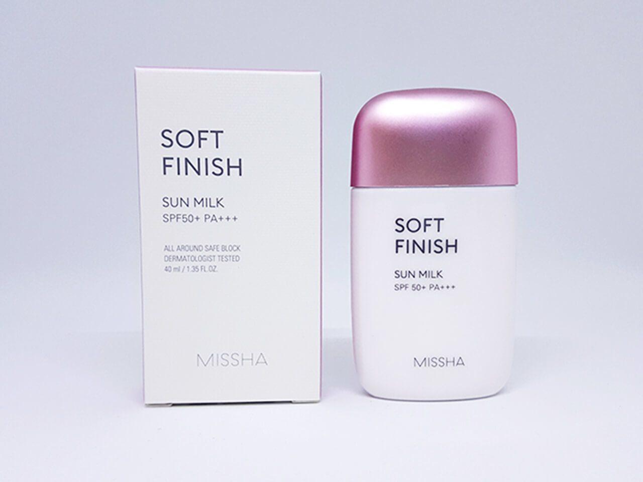 Missha Velvet Finish Sun Milk 70ML (Tím)
