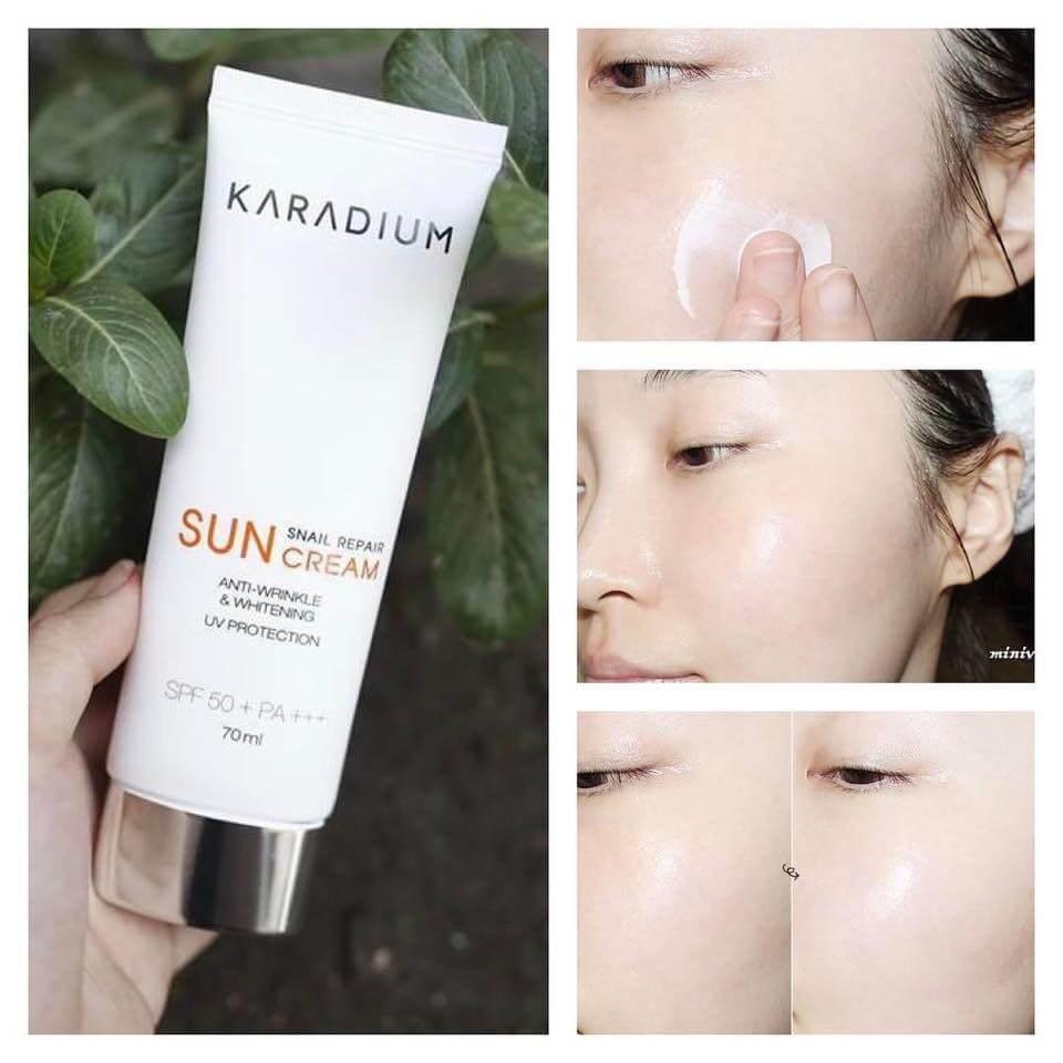 Kem Chống Nắng Hàn Karadium Snail Repair Cream