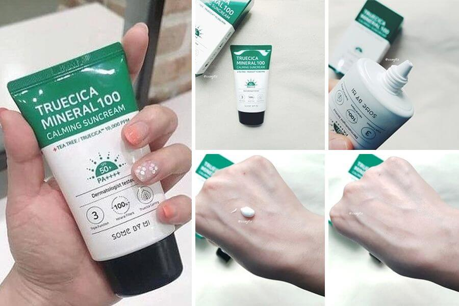 Kem Chống Nắng Trị Mụn Some By Mi Trucica Mineral 100 Calming Suncream