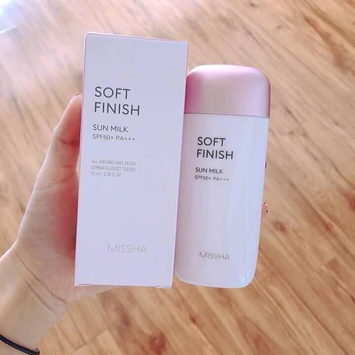 Kem Chống Nắng Missha Soft Finish Sun Milk (HỒNG)