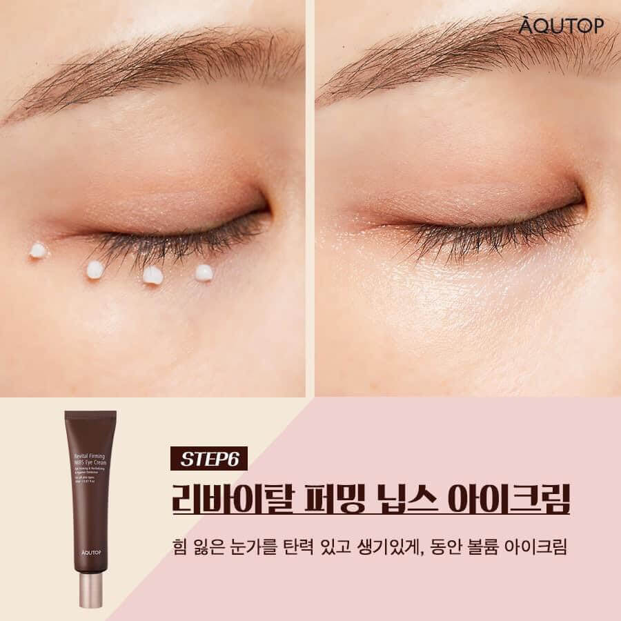 Kem dưỡng chống nhăn vùng mắt chiết xuất hạt cacao AQUTOP Revital Firming Cacao Eye Cream
