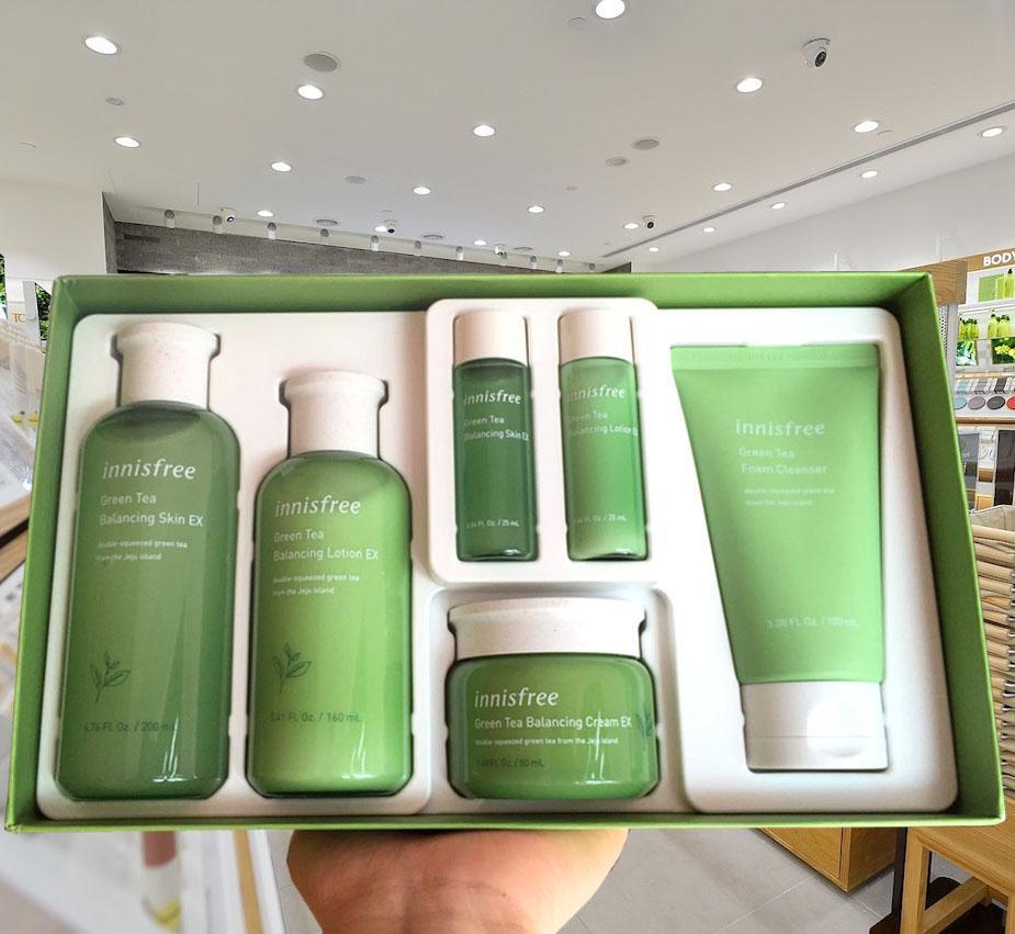 Bộ Dưỡng Da Trà Xanh Innisfree Green Tea Balancing Ex Skin Care Set