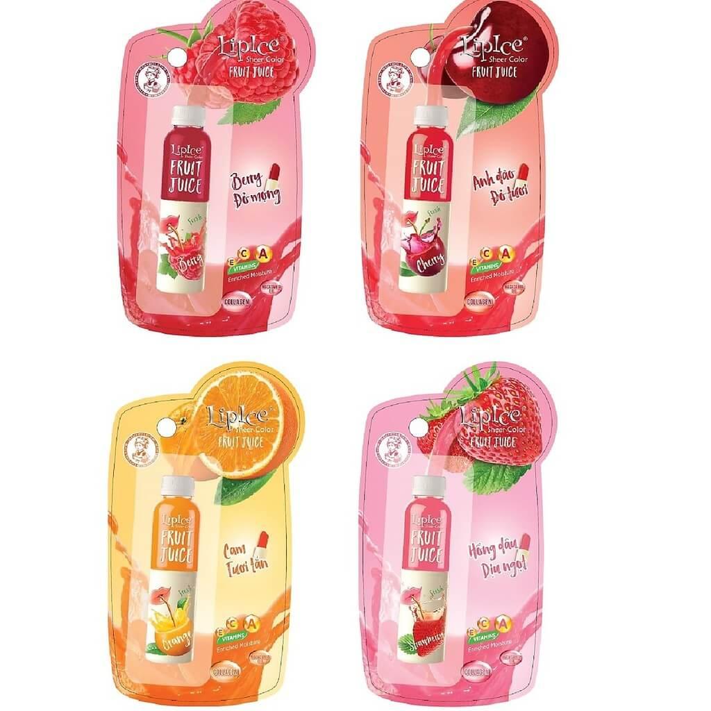 Các dòng sản phẩm Lipice Sheer Color Fruit Juice