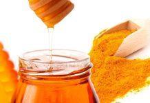 tinh bột nghệ uống với mật ong